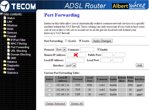 router telefónica obserca telecom aw4062